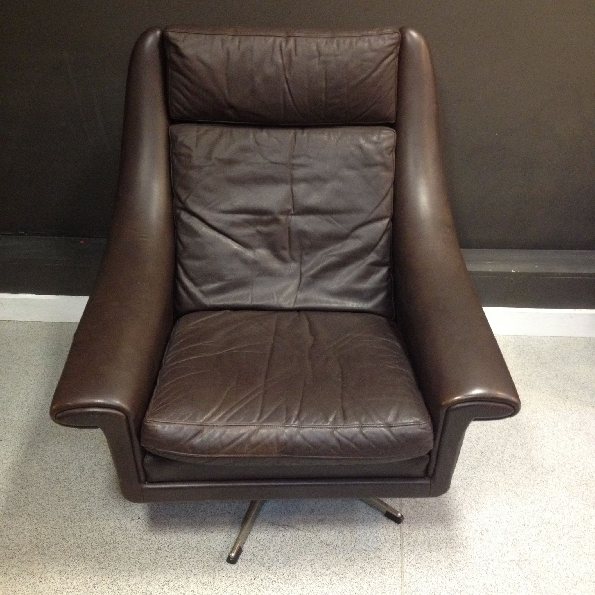 Super Comfy Danish Leather Chair